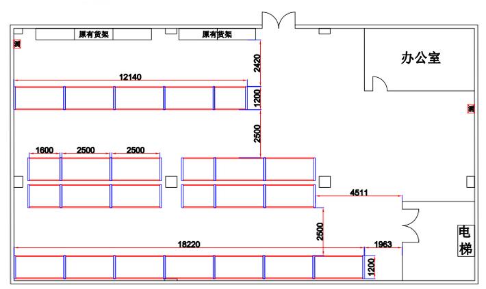 仓库平面图例图