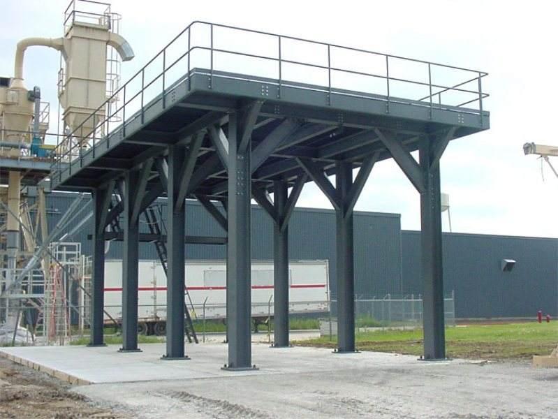 钢结构平台是指利用方钢,圆钢,h型钢作为立柱,使用h